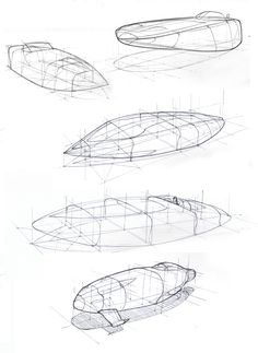 "Again fundamentals of perspective drawing. I tried section drawing approach based on knowledge from ""How to Draw"" book by Scott Robertson. Scott Robertson, Section Drawing, Drawing Course, Boat Drawing, Spaceship Design, Industrial Design Sketch, Perspective Drawing, Principles Of Design, Technical Drawing"