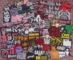 Wholesale Random Band Badge Iron on Patch Sew Rock Heavy Metal Music toppe toppa #Unbranded