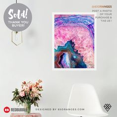 Just sold an Art Print of my artwork titled 'Agate'! Order yours or see all #redbubble products carrying this design here: https://www.redbubble.com/people/83oranges/works/21672314-agate-redbubble-lifestyle?asc=u&p=art-print