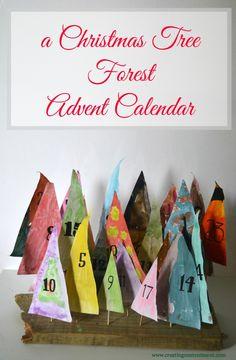Christmas tree forest Advent calendar