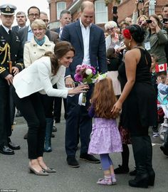 Catherine Duchess of Cambridge and William Duke of Cambridge in Victoria British Columbia. October 1 2016