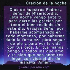 Oraciondelanoche Dios de nuestros Padres, Señor de Misericordia ...