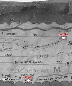Pannonia, Moesia and Dalmatia... Part of the map showing the region of Belgrade in Serbia, Eastern Bosnia-Herzegovina and Southern Croatia :