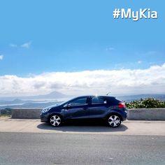 Let the blue sky meet the perfect blue #Kia #Rio #MyKia <Photocourtesy of Jaydee Fabiala>