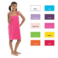 Children s terry velour spa wraps are made of cotton terry velour fabric.  These triple sheared bath wraps for kids are perfect for covering up after  a ... 80faf28cb