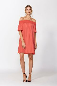 The best of what's new! Shop the Dominca Off Shoulder Dress in stores and online now www.decjuba.com.au @Decjuba
