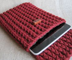 I'm going to knit an iPad case for Brades!  (pattern not included)