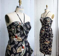 Robe sarong hawaïenne  Pin-up  Rockabilly  par OceanfrontBoutique