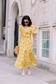 5 Reasons Why You Need These Heels For Spring // Spring Floral Dress // Wrap Style Dress