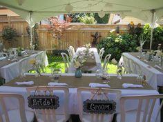 Intimate Backyard Wedding | Small backyard weddings, Backyard ...