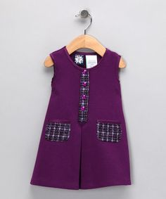 Purple Ponte Pocket Dress -