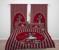 68 X 88 KESS InHouse KESS Original Patriotic Watercolor  Red White Twin Comforter