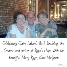 Celebrating Claire Labine's 80th birthday