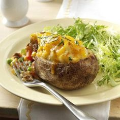 Shepherd's Pie Twice-Baked Potatoes - This spin on stuffed potatoes makes for a filling meal. Serve with a green salad alongside it, and satisfaction is guaranteed even for hearty appetites.  —Cyndy Gerken, Naples, Florida
