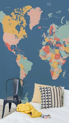 Navigator Kids World Map Wall Mural