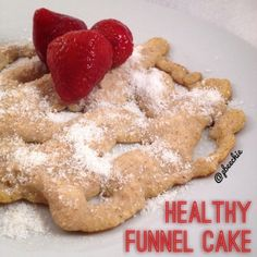 Ripped Recipes - Healthy Funnel Cake - Tastes just like what you'd find at a fair!!