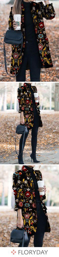 Ideas Embroidery Fashion 2019 For 2019 Look Fashion, Fashion Outfits, Womens Fashion, Fashion Design, Jackets Fashion, Fashion Art, Pretty Outfits, Fall Outfits, Coats For Women