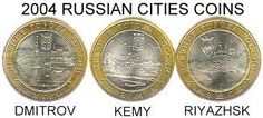 RUSSIA 2004 HISTORIC CITIES COINS