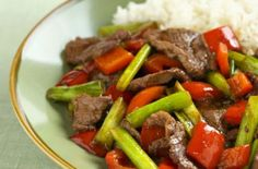 Sweet beef stir-fry with spring onions and pepper recipe - goodtoknow