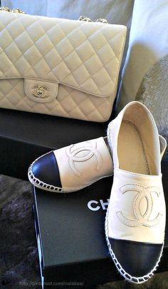Chanel Espandrilles I have these and ♥️ them  Wear them sparingly ladies~
