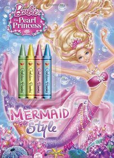 Mermaid Style (Barbie: The Pearl Princess) (Color Plus Chunky Crayons)  https://www.amazon.com/gp/product/0385373066/ref=as_li_qf_sp_asin_il_tl?ie=UTF8&tag=pinterest0e08-20&camp=1789&creative=9325&linkCode=as2&creativeASIN=0385373066&linkId=f4e4d189eb998e51b9df616447c80f41