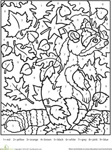 Free coloring pages & coloring worksheets for kids! Our selection of pictures to color are not only fun and cute, but cover a wide variety of themes. Adult Color By Number, Color By Number Printable, Printable Numbers, Color By Numbers, Fall Coloring Pages, Coloring For Kids, Adult Coloring Pages, Coloring Books, Alphabet Coloring