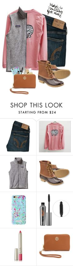 """My most recent sets haven't been getting many likes/views because I keep posting them later in the day :("" by acb1012 ❤ liked on Polyvore featuring Hollister Co., Patagonia, L.L.Bean, Lilly Pulitzer, Benefit, Kate Spade, Ilia, Tory Burch, women's clothing and women"