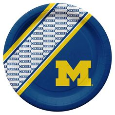 Michigan Wolverines NCAA Disposable Paper Plates