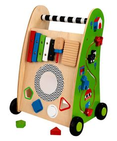I want to build something like this with art and music on it. Toddler height.