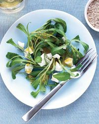 Mache Salad with Goat Cheese and Fennel-Mustard Vinaigrette Recipe on Food & Wine