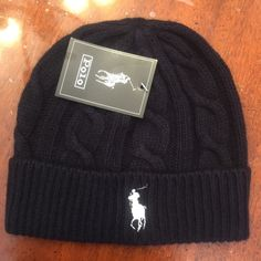 Navy & Grey Polo Beanies This Polo RL beanie is NWT and is guaranteed to keep you warm this winter. Available in gray, red, purple, navy and black  1 For $20 or 2 For $35  Unisex One Size Fits All **NO TRADES** Polo by Ralph Lauren Accessories Hats