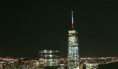 Wolrd TRade Tower lit for paris - Google Search