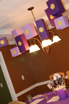 Rapunzel Tangled Birthday Party Lanterns Decorations