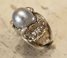 Pearls and silver #jewlery #rings #gioielli #giuseppinafermi #accesories #madeinitaly