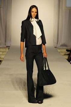 Louis Verdad RTW Spring 2013: sophisticated and feminine black + white.