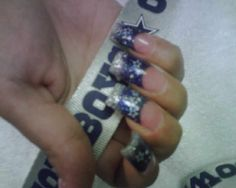 Dallas cowboys manicure