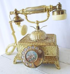 Vintage Rotary Phone  Fancy French by TheClassicButterfly on Etsy, $55.00 #telephone #vintage