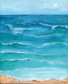 Seascape Original painting Ocean ART Vertical by SharonFosterArt