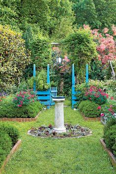 The Ultimate Entertaining Garden: Peacock Blue Garden Gate