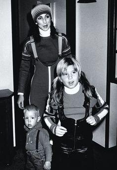 Cher & her children, Chastity Bono & Elijah Blue Allman Cher Photos, I Got You Babe, Cher Bono, Eartha Kitt, Barbra Streisand, Portraits, Celebs, Celebrities, Record Producer