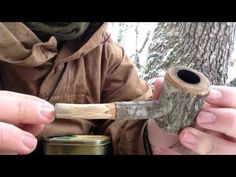 Bushcraft pipe - YouTube...  Pipe making inspiration