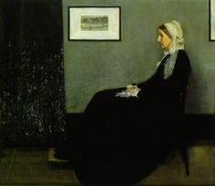 """Whistler, James Abbott McNeill  Arrangement in Grey and Black: Portrait of the Painter's Mother  known as """"Whistler's Mother""""  1871  Oil on canvas  56 3/4 x 64 in. (144.3 x 162.5 cm)  Musee d'Orsay, Paris"""