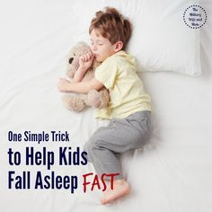 One Simple Trick to Help Your Kids Fall Asleep Fast - The Military Wife and Mom