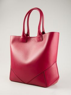 Red leather medium 'Easy' tote from Givenchy