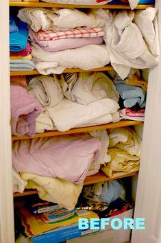 Dollar Tree Organization, Linen Closet Organization, Diy Organization, Organizing Ideas, Food Pantry Organizing, Small Closet Storage, Organizing Life, Diy Storage, Kitchen Storage