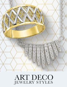 Geometric lines and bold sculptural shapes with glamorous and exquisite artistry are just a few characteristics of art deco styling. #QualityGold #ArtDecoStyling #ArtDeco #ArtDecoJewelry #Jewelry #FashionJewelry #GeometricJewelry Geometric Lines, Geometric Jewelry, Art Deco Jewelry, Fashion Jewelry, Glamour, Shapes, Sculpture, Jewelry Trends, Body Jewelry
