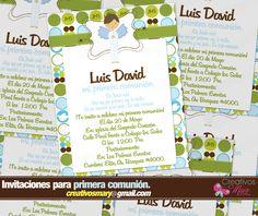 Invitaciones para primera comunion de niño