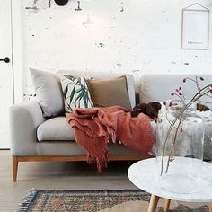 Sometimes we deviate from pink...only sometimes! Think this stunning living room is definitely worth it for....by @milou_nieuwenhuis