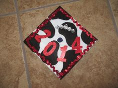 Graduation Cap in cow print