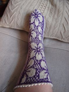 "Socks ""Clematis."" by tarelkaz, via Flickr"